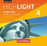 8. Schuljahr, Audio-CDs (+MP3 und Transkripte), Lehrerfassung / English G Highlight, Hauptschule Bd.4