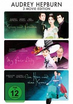 Audrey Hepburn - My Fair Lady / Krieg und Frieden / Ein Herz und eine Krone DVD-Box - Eddie Albert,Stanley Holloway,Mel Ferrer