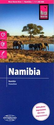 Reise Know-How Landkarte Namibia; Namibie