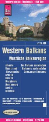 Reise Know-How Landkarte Westliche Balkanregion / Western Balkans (1:725.000) : Albanien, Bosnien und Herzegowina, Kosov - Peter Rump, Reise Know-How Verlag