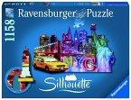 Ravensburger 16153 - Skyline, New York 1158 Teile, Silhouette Puzzle