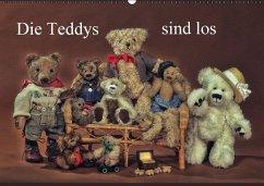 Die Teddys sind los (Wandkalender 2016 DIN A2 quer)