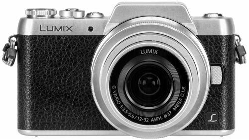 Panasonic Lumix DMC-GF7 Systemkamera Kit schwarz/silber + H-FS 12-32 mm