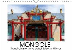 Mongolei - Landschaften und buddhistische Klöster (Wandkalender 2016 DIN A4 quer)