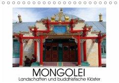 Mongolei - Landschaften und buddhistische Klöster (Tischkalender 2016 DIN A5 quer)