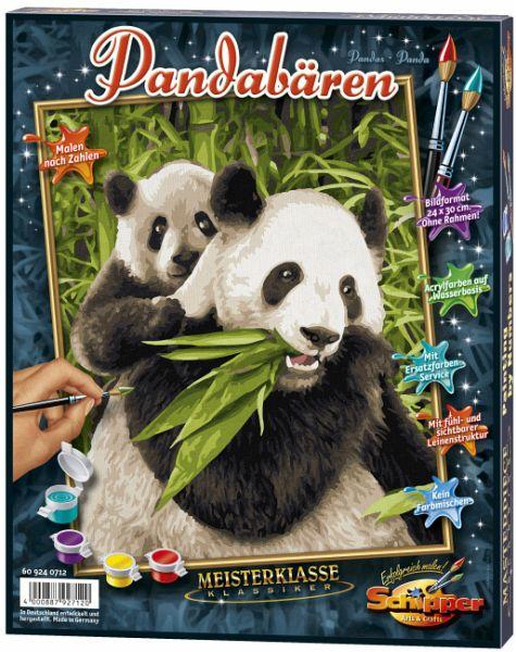Pandabären Meisterklasse Klassiker Malen Nach Zahlen Mal Sets Bildgröße 30 X 40 Cm