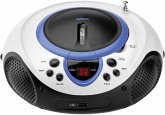 Lenco SCD-38 USB tragbarer CD Player blau