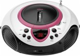 Lenco SCD-38 tragbarer CD Player USB rosa