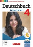 Deutschbuch 04: 8. Schuljahr. Arbeitsheft mit Lösungen und Übungs-CD-ROM. Gymnasium Baden-Württemberg