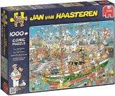 Jumbo 19014 - Jan van Haasteren, Auf dem Schiff ist nichts im Griff, 1000 Teile, Puzzle