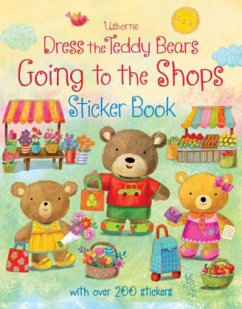 Dress the Teddy Bears Going to the Shops Sticke...