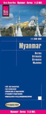 Reise Know-How Landkarte Myanmar (1:1.500.000); Burma; Birmanie; Birmania
