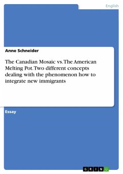 The Canadian Mosaic vs. The American Melting Pot. Two different concepts dealing with the phenomenon how to integrate new immigrants