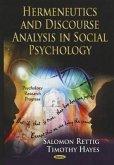 Hermeneutics and Discourse Analysis in Social Psychology