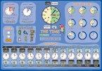 mindmemo Lernposter - The Time - What's the time? - Die Uhrzeit auf Englisch lernen