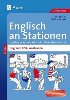 Englisch an Stationen England, USA, Australien