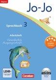 Jo-Jo Sprachbuch - Grundschule Bayern. 3. Jahrgangsstufe - Arbeitsheft in Vereinfachter Ausgangsschrift mit CD-ROM