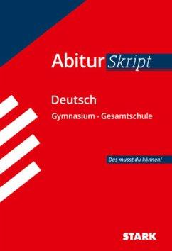 Abiturskript Deutsch - Schäffer, Fritz