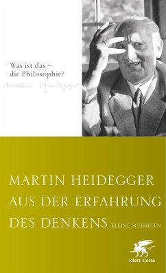 Aus der Erfahrung des Denkens (eBook, ePUB) - Heidegger, Martin