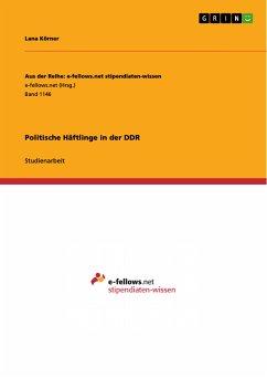 Politische Häftlinge in der DDR (eBook, PDF)