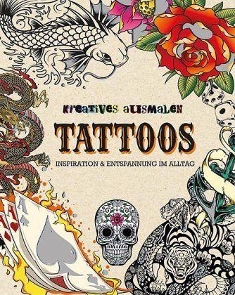 kreatives ausmalen tattoos buch. Black Bedroom Furniture Sets. Home Design Ideas