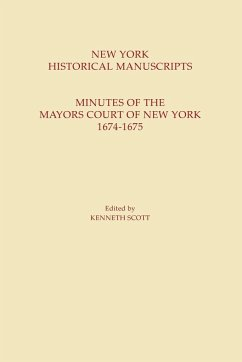 New York Historical Manuscripts