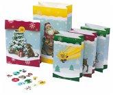 24 Adventstütchen zum Befüllen für Kinder