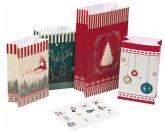 """24 Adventstütchen """"Nordic"""" zum Befüllen"""