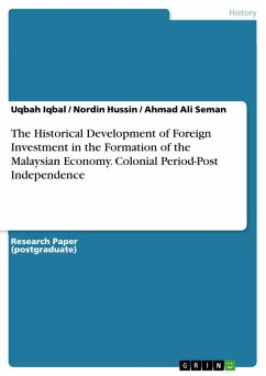 The Historical Development of Foreign Investment in the Formation of the Malaysian Economy. Colonial Period-Post Independence (eBook, ePUB)