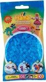Hama® Bügelperlen Midi - Transparent Aqua Blau 1000 Perlen