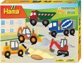 Hama® Bügelperlen Midi - Geschenkpackung Baufahrzeuge - 1 Stiftplatte Brummi,