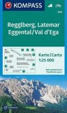 KOMPASS Wanderkarte Regglberg, Latemar, Eggental, Val d'Ega