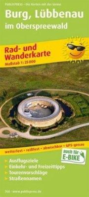 PublicPress Rad- und Wanderkarte Burg, Lübbenau...
