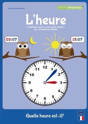mindmemo lernfolder lheure quelle heure est il die uhrzeit auf franzsisch lernen zusammenfassung - Zusammenfassung Franz Sisch