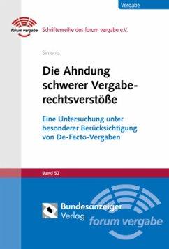 Die Ahndung schwerer Vergaberechtsverstöße - Simonis, Matthias