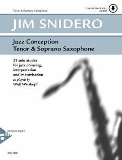 Jazz Conception Tenor & Soprano Saxophone, w. Audio-CD