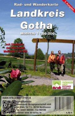 KKV Rad- und Wanderkarte Landkreis Gotha
