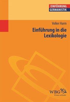 Einführung in die Lexikologie (eBook, PDF) - Harm, Volker