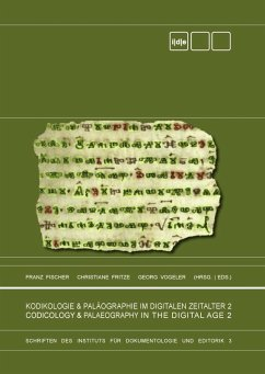 Kodikologie und Paläographie im digitalen Zeitalter 2 - Codicology and Palaeography in the Digital Age 2 (eBook, ePUB)
