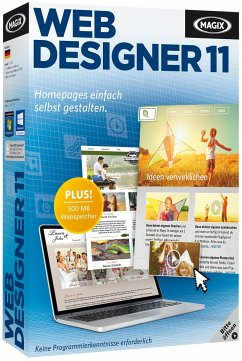 MAGIX Web Designer 11 - Homepages einfach selbs...