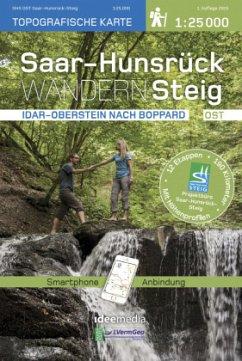 Saar-Hunsrück-Steig Wanderkarte Ost