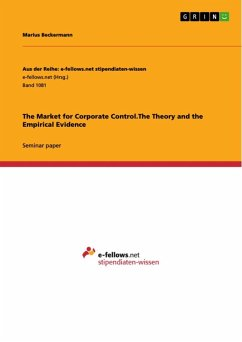 The Market for Corporate Control.The Theory and the Empirical Evidence (eBook, ePUB)