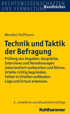Technik und Taktik der Befragung (eBook, PDF) - Wendler, Axel; Hoffmann, Helmut