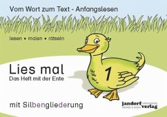 Lies mal 1 (mit Silbengliederung) - Das Heft mit der Ente H.1 - Wachendorf, Peter; Debbrecht, Jan