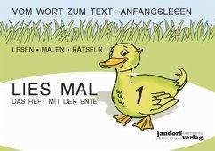 Lies mal 1 - Das Heft mit der Ente. Großbuchstaben H.1 - Wachendorf, Peter; Debbrecht, Jan