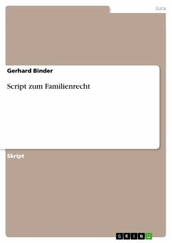 Script zum Familienrecht (eBook, ePUB)