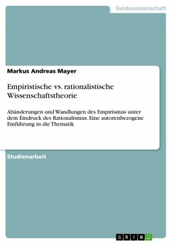 Empiristische vs. rationalistische Wissenschaftstheorie (eBook, ePUB)