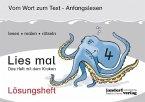 Lösungsheft Lies mal 4 - Das Heft mit dem Kraken / Lies mal Lösungsheft Bd.4