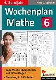 Wochenplan Mathe / 6. Schuljahr (eBook, PDF)
