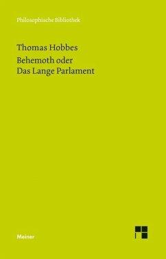 Behemoth oder Das Lange Parlament - Hobbes, Thomas